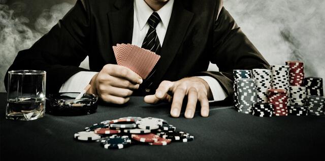 Jogador de Poker com Stack