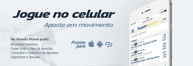Aplicação Móvel SuperAposta para Celular e Tablet
