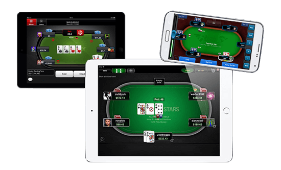 App PokerStars, TitanPoker, Full Tilt Poker