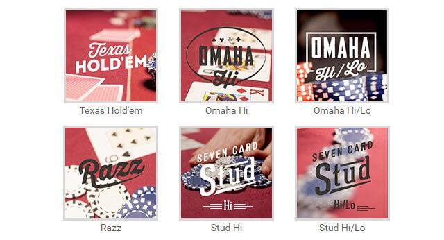 Tipos de Jogos de Poker Full Tilt Poker