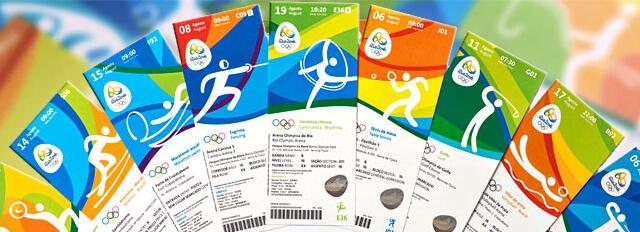 Ingressos Comemorativos Esportes Jogos Rio 2016