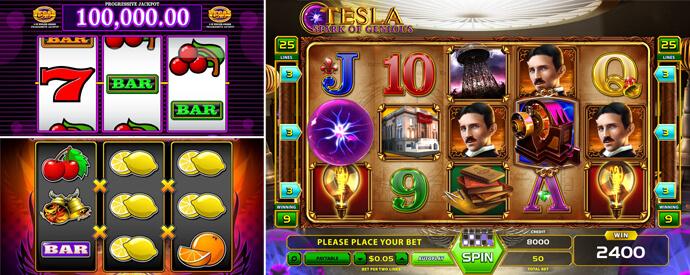 Slot Machines 3 e 5 Cilindros Jogos de Casino com as Melhores Probabilidades de Ganhar