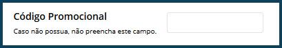 Campo Código Promocional Jockey Rio