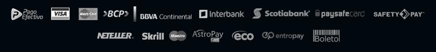 Métodos de pagamento 24win