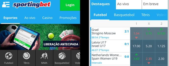 Versão Mobile Sportingbet Aplicação Móvel