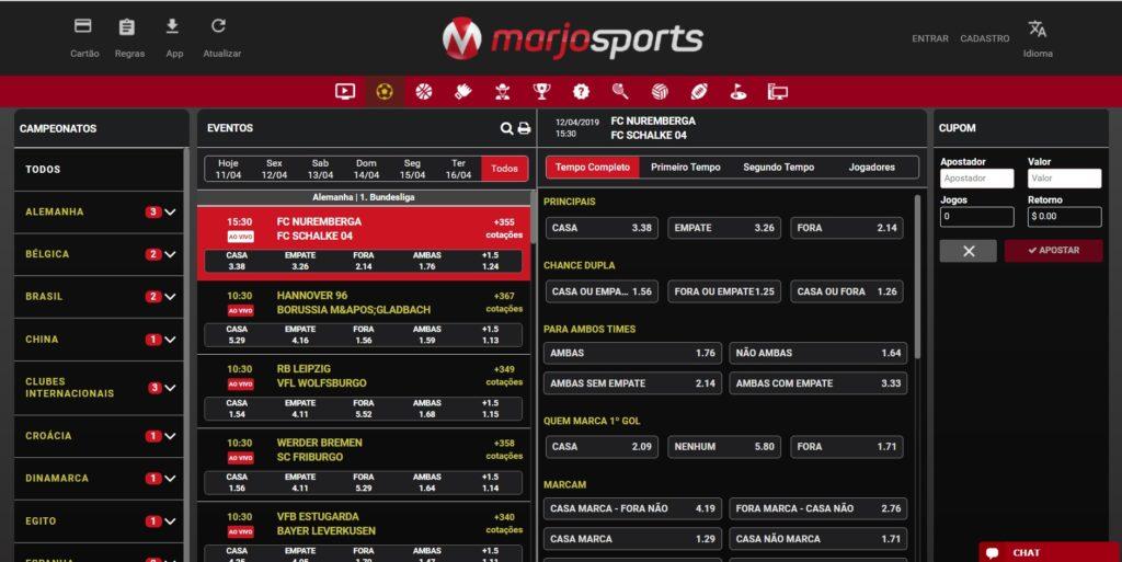 Mercados de Apostas Marjosports