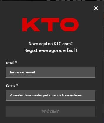 KTO como apostar Registro