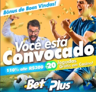 Bet4Plus Esportes Bônus Boas-vindas