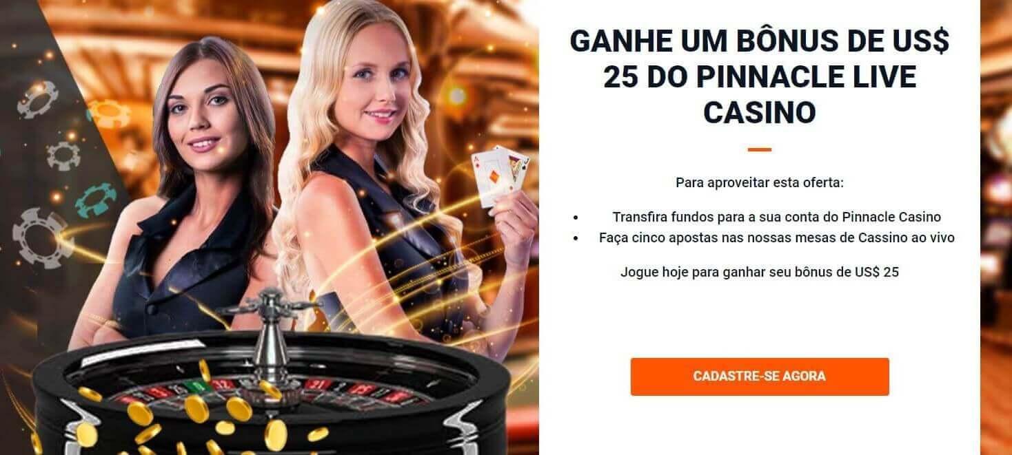 Código VIP Pinnacle - bônus boas-vindas casino