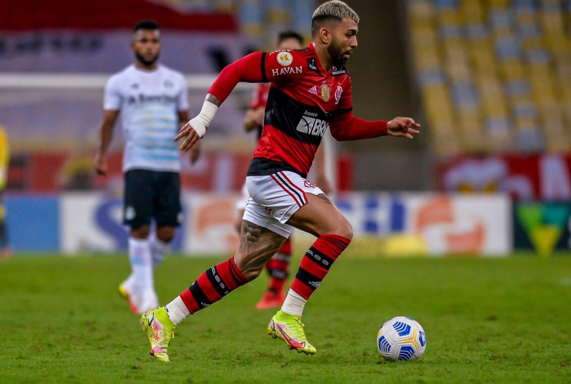 Gabigol em ação pelo Flamengo