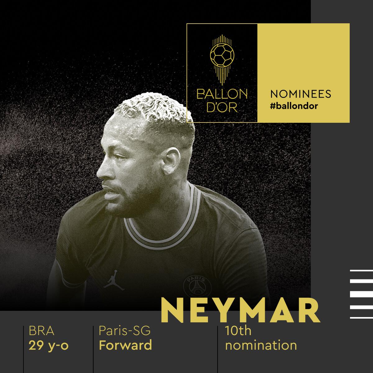 Neymar disputa a Bola de Ouro mais uma vez